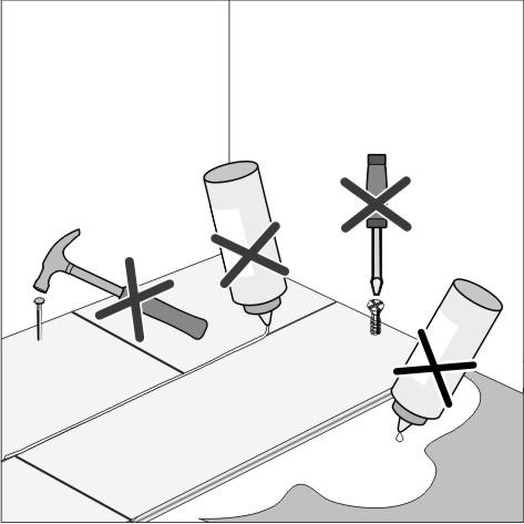 Какие инструменты не стоит использовать для укладки ламината