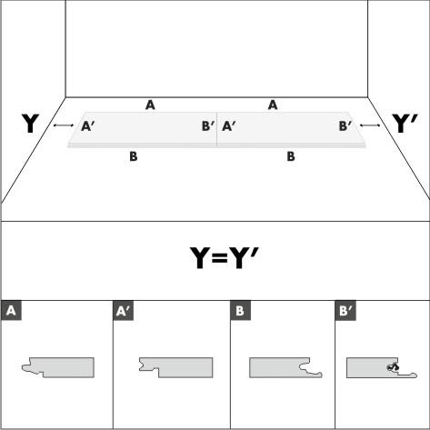 Направление замка при укладке