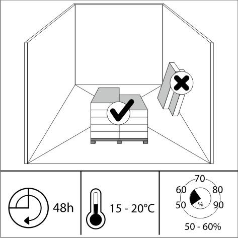 Перед укладкой занесите ламинированные панели в помещение планируемого монтажа