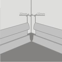 Пластиковый плинтус, установка внутреннего угла