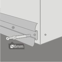 Крепление плинтуса с кабель каналом