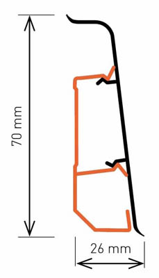 Размер плинтуса Arbiton Indo LM-70