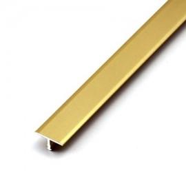 Т - образный алюминиевый порог для пола, ширина 13 мм., (Золото)
