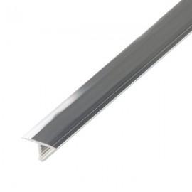 Т - образный порог для пола, ширина 13 мм., (Серебро глянцевое)