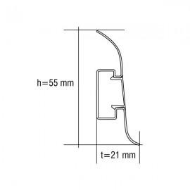 Дуб беленый 547 - Плинтус Smart (VOX)