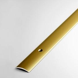 Алюминиевый порог с отверстиями, 20 мм, А20-КЕ (Золото)