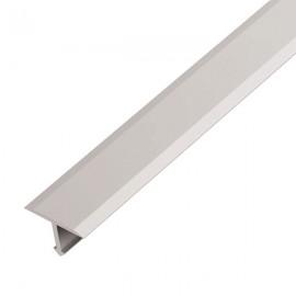 Т - образный порог для пола, ширина 13 мм., (Серебро)