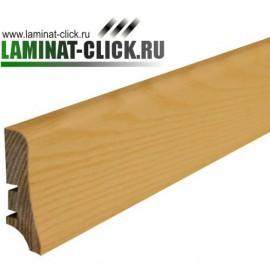 Ясень P58, плинтус напольный деревянный Barlinek